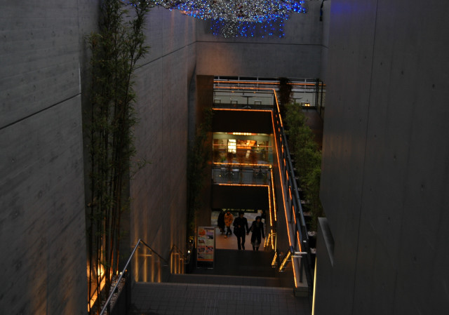 コンクリートの階段