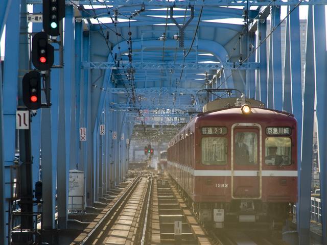 京急の多摩川の鉄橋